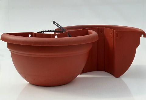 pflanztopf f r regenrohr kunststoff terracotta h ngetopf pflanzk bel regenrinne ebay. Black Bedroom Furniture Sets. Home Design Ideas