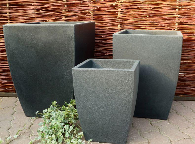 pflanzkuebel kunststoff wetterfest eckig blumenkuebel. Black Bedroom Furniture Sets. Home Design Ideas