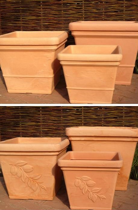 pflanzkuebel kunststoff frostfest eckig blumenkuebel blumentopf terracotta ebay. Black Bedroom Furniture Sets. Home Design Ideas